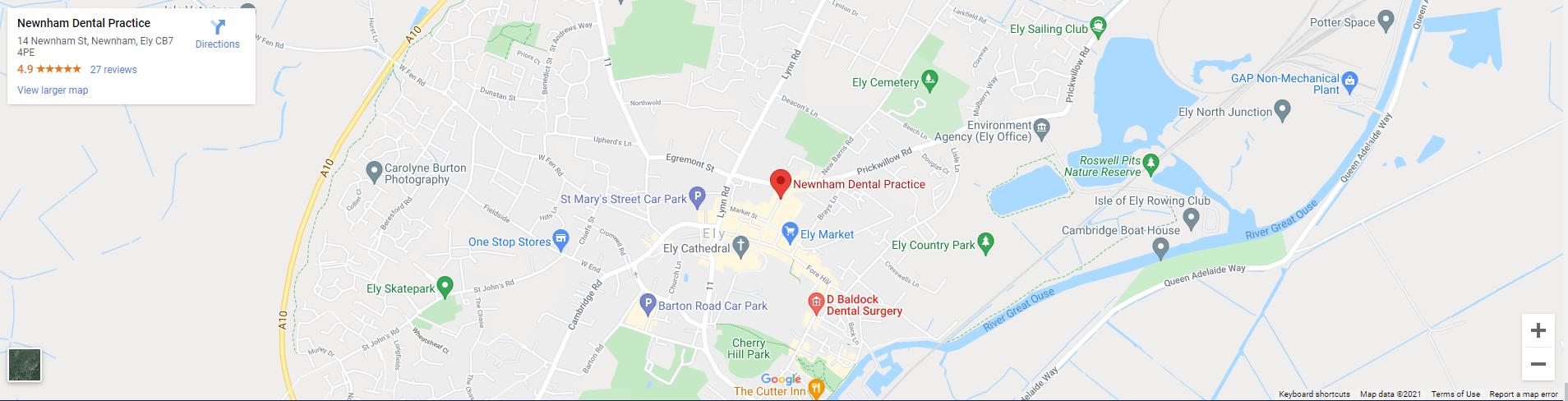 Newnham dental practice location